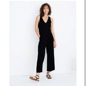 Madewell | Texture & Thread Black Keyhole Jumpsuit
